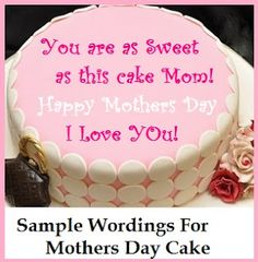 Birthday Cake Wordings: Mom | Party ideas | Birthday cake ...