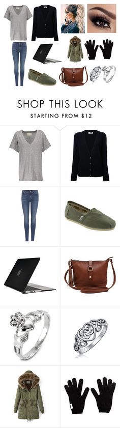 """""""Early morning work!"""" by sarapotter98 on Polyvore featuring Current/Elliott, H Beauty&Youth, 7 For All Mankind, TOMS, Speck, M&Co, West Coast Jewelry, Bling Jewelry, Prada and Winter"""