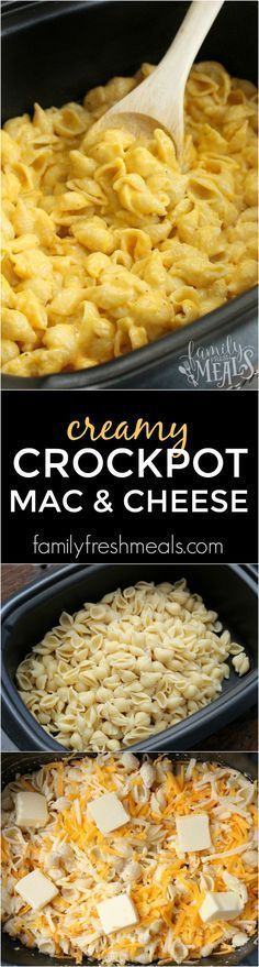 No joke folks. This here recipe is THE BEST Creamy Crockpot Mac and Cheese you will find around. We are talking about melt in your mouth good!