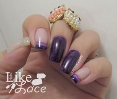 Lacey French Tip Stamped Mani  http://www.nailslikelace.com/2015/01/lacey-french-tip-stamped-mani.html