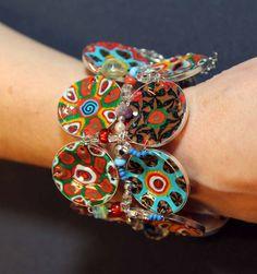 Crazy multicolored bracelet par jamfashion sur Etsy, $43.00