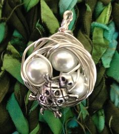 Turtle Nest Pendant with Mama Turtle  choose 1 by AnnPedenJewelry
