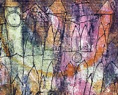 """Paul Klee, """"The Castle"""", 1913 Charcoal, pen and watercolor Private collection seen in Montreal at LEs Beaux Arts"""