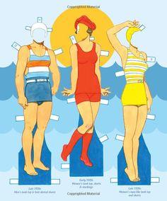 Tom Tierney's History of Swimwear Paper Dolls: Tom Tierney, Paper Dolls, Jenny Taliadoros: 9781935223993: Amazon.com: Books