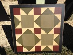 2' Barn Quilt. Road to California.