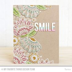 As I said yesterday, the MFT December Card Kit, Fancy Flowers  released last week and we are showcasing the kit yesterday and today.    Tod...