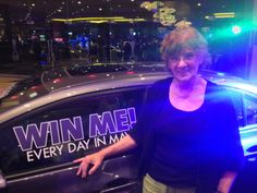 Mary B. is glowing as she's claiming her new car!