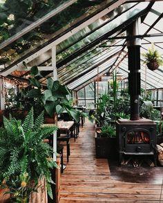 Future House, My House, House Cafe, Indoor Garden, Indoor Plants, Dream Garden, Home And Garden, Garden Design, House Design