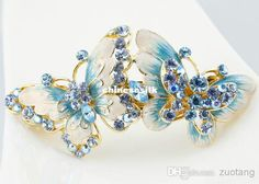 Pretty Big Butterfly Hair Accessories Bridal Hair Clips Cloisonne Enamel Gold Plated Austrian Rhinestone Hairpin Jewelry with Boxes Wedding Hair Accessories Bride Hair Clips Wedding Hair Clips Online with $83.43/Piece on Chinesesilk's Store | DHgate.com