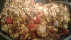 Machacado with egg a la Mexicana Healthy Low Calorie Breakfast, Eggs, Beef, Chicken, Food, Meat, Essen, Egg, Meals