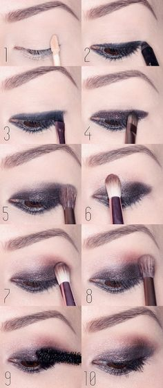 Today I let myself gather some tutorials to create awesome smokey eyes because I really suck at it. No no, seriously! I really really don't…