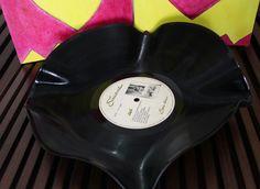 bowl de disco de vinil reciclado - decoração by gabi rodrigues