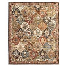 Home Decorators Collection Patchwork Medallion Multi 8 ft. x 10 ft. Area Rug-550028 - The Home Depot