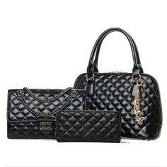 Fashion 2017 Top Quality Luxury Brand women bags brief picture package 3 pieces set handbag messenger Tote bag handbags should #Affiliate