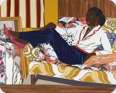 Mickalene Thomas Portrait of Mnonja, 2010 rhinestones, acrylic, and enamel on wood panel 96 x 120 in. x cm) Smithsonian American Art Museum African American Expressions, African American Artist, American Artists, American Women, American History, African Art, Native American, Black Artists, Traditional Art