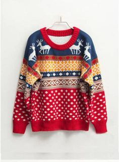 Round Neck Oversized Christmas Jumper, Sweater, Christmas Jumper Round Neck Jumper Over-sized, Chic Christmas Jumpers, Ugly Christmas Sweater, Christmas Clothes, Tacky Christmas, Family Christmas, Christmas Holidays, Cool Sweaters, Ugly Sweater, Holiday Sweaters