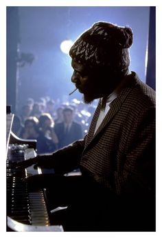 Thelonious Monk performing at Newport, New York (1975). Photograph by Burt Glinn.