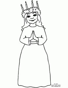 St lucia day coloring pages December Holidays, Winter Holidays, Christmas Holidays, Around The World Crafts For Kids, Holidays Around The World, Sweden Christmas, Christmas World, Sankta Lucia, Santa Lucia Day