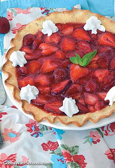 Fresh Strawberry Pie With Orange Liqueur Glaze Recipe — Dishmaps