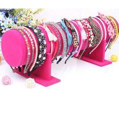 velours de coton Hairband affichage, avec plastique PVC, pilier, plus de couleurs à choisir