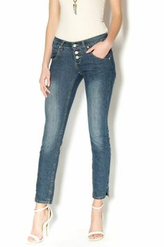 Slim fit, stretchy jeans with visible button-fly. All finishing operation have been performed manually. Great for a casual or dressy look   Dark Slim Fit Jeans by Sublevel. Clothing - Bottoms - Jeans & Denim - Slim Clothing - Bottoms - Jeans & Denim Washington