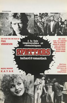 spetters 1980 director by paul verhoeven Paul Verhoeven, Rutger Hauer, Film Archive, Cinema Film, Film Posters, Vintage Movies, I Movie, Films, Marilyn Monroe