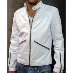 "Veste en cuir homme ""Blanc"" http://vestesencuir.fr/vestes-en-cuir-veritable-homme/98-veste-en-cuir-homme-blanc.html"