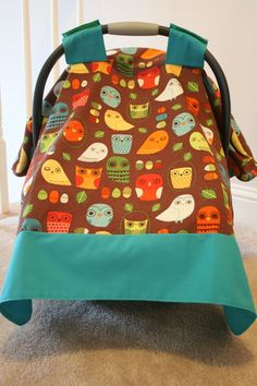 Owl Carseat Canopy, LOVE the owls! I have one of these and it's my new mom MUST HAVE.