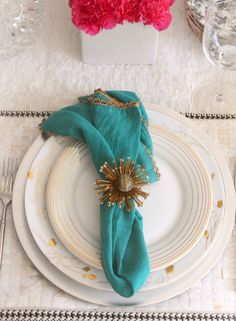modern and vintage table setting