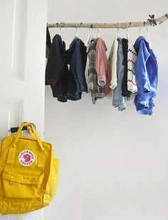 DIY clothes hanger for kids rooms