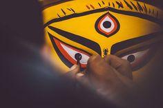 No photo description available. Durga Maa Paintings, Durga Painting, Maa Durga Photo, Maa Durga Image, Durga Puja Wallpaper, Durga Puja Kolkata, Durga Images, Best Friend Drawings, Festivals Of India