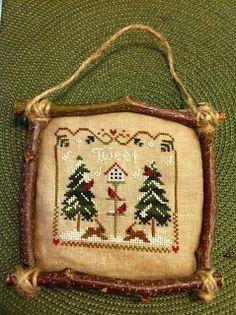 DESIGN  IDEA-Frrame w/oak twigs fm our yard!  = Great EZ  Gifts!                       ~ Original (photo) idea -Bride's Tree Christmas Ornament Ideas -- Love this.
