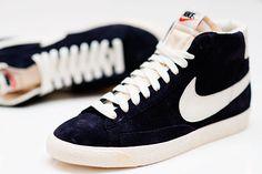 c999a83a4a Nike Blazer Vintage High Blue Suede Shoes