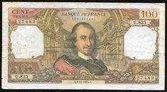 França - Antiga cédula no valor de 100 Francos em muito bom estado de conservação!