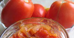 Pieczone pomidory z czosnkiem, cebulką.... i również pieczone, ale jabłka :) Kto tego nie lubi? ;) Co za zapach unosił się po kuchni! ...