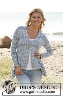 "Knitted DROPS asymmetrical jacket in ""Muskat Soft"". Size: S - XXXL. ~ DROPS Design"