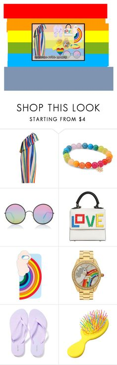 """""""Celebrate Pride Month"""" by maaja13579 ❤ liked on Polyvore featuring Mara Hoffman, Sydney Evan, Sunday Somewhere, Les Petits Joueurs, Miss Selfridge, Betsey Johnson and Old Navy"""