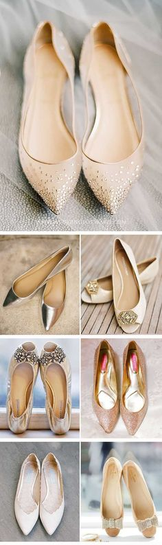 24 Flat Wedding Shoes For The Love Of Comfort And Style ❤See more: http://www.weddingforward.com/flat-wedding-shoes/ #weddings #shoes #weddingshoes
