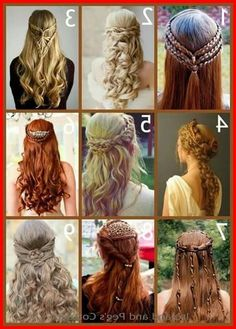 + Ideas for Stunning Medieval and Renaissance Hairstyles Medieval Wedding, Celtic Wedding, Pagan Wedding, Viking Wedding, Irish Wedding, Fantasy Wedding, Braided Hairstyles, Wedding Hairstyles, Cool Hairstyles
