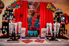 The amazing Spider-Man Birthday Party Ideas Leo Birthday, Superhero Birthday Party, 4th Birthday Parties, Birthday Party Decorations, Birthday Ideas, Spiderman Invitation, Spiderman Theme, Monster Party, Man Party
