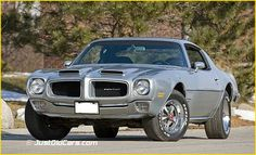 1971 Pontiac Firebird. This is what ours will look like in 5 months after it's been completely rebuilt from the ground up at the shop. But it'll be teal.