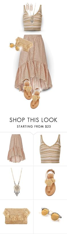 """Boho"" by elona-makavelli ❤ liked on Polyvore featuring LoveShackFancy, Alice + Olivia, Lulu Frost, Bettye and MANGO"