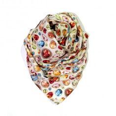 Diamonds are a girl's best friend scarf.  http://www.eldasign.com/shop/scarfs/diamonds-are-a-girls-best-friend/