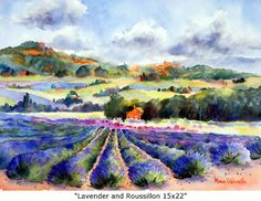 Lavender and Roussillon --Love this fabulous artist--and her interpretations of Provence........