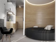 Curved Interior Wall