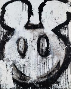 Joyce Pensato, Untitled (Mickey), 1995