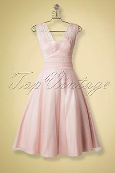 Collectif Bekleidung Sophie Occassion Swing-Kleid Powder Pink 14770 20141213 0008haakje neue