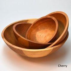 "Colonial Hardwood Bowl  cherry or black walnut. 12 "" bowl, 6 quart $128.25, 15"" bowl $148.00 5"" deep."