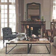 法式乡村实木家具铁艺咖啡茶几工业loft风格老松木工作台做旧仿古-淘宝网