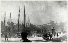 New item in my etsy shopFalling snow on the Damrak Amsterdam c1900. Photograph by George Hendrik Breitner by PanchromaticaDesigns. Find it here http://ift.tt/2bhW24G